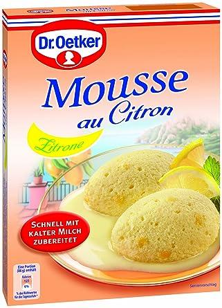Dr. Oetker Mousse Limón (Pack de 8, 8 x 93 g Paquete)