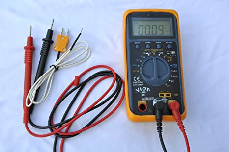Portable Multimeter w/Capacitor Tester Test Leads+Type K Thermocouple Volt  Amp Ohm Capacitance Meter HVAC Electric Circuit Diagnosis Repair Service