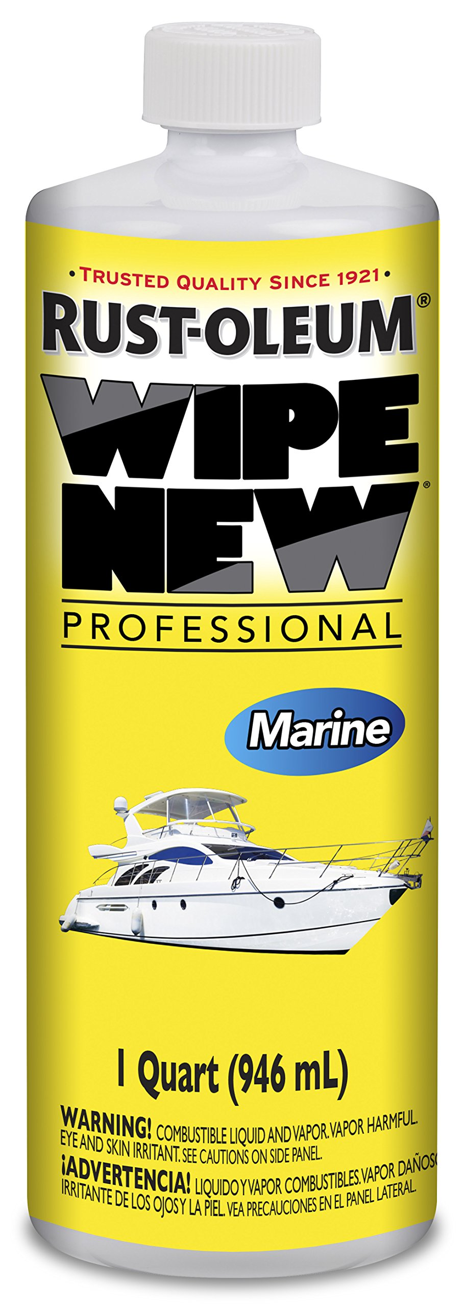 Rust-Oleum WNMARINE32OZ Professional Wipe New Marine, 32 Oz Qt