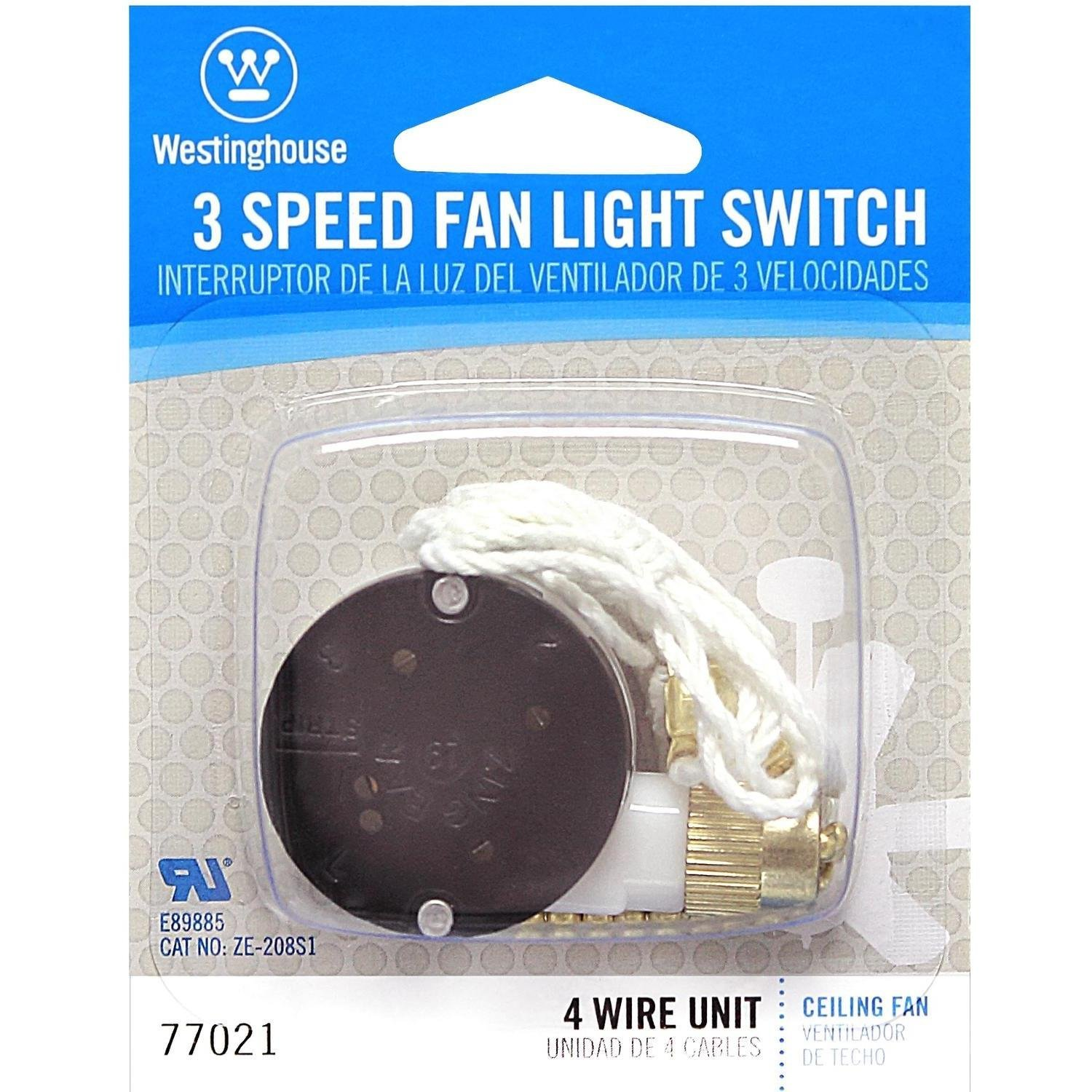 Westinghouse 7702100 3-Speed Fan Switch - Hunter Ceiling Fan Parts -  Amazon.com