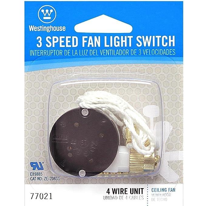 westinghouse lighting 7702100 3-speed fan switch - hunter ceiling fan parts  - amazon com