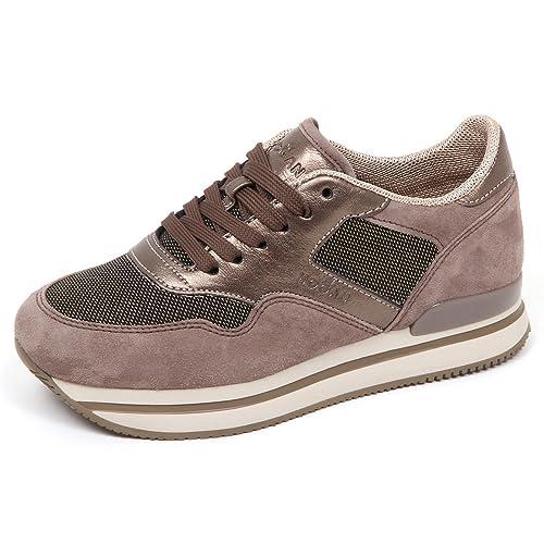 E4294 sneaker donna tortora scuro HOGAN H222 scarpe shoe woman