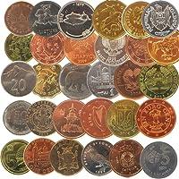 Kit 30 monete moneta collezione set 30 nazioni europa asia africa repliche