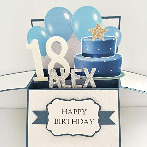 NAME Age Personalised Birthday Card 21st Gift For Him