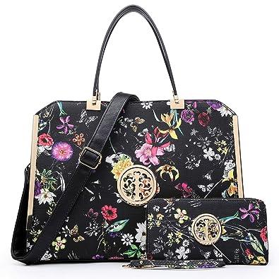 16c7d5e573 DASEIN Women Large Satchel Handbag Shoulder Purse Top handle Work Bag Tote  With Matching Wallet