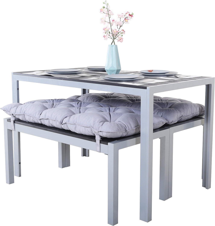 Mesa de aluminio con superficie de Polywood