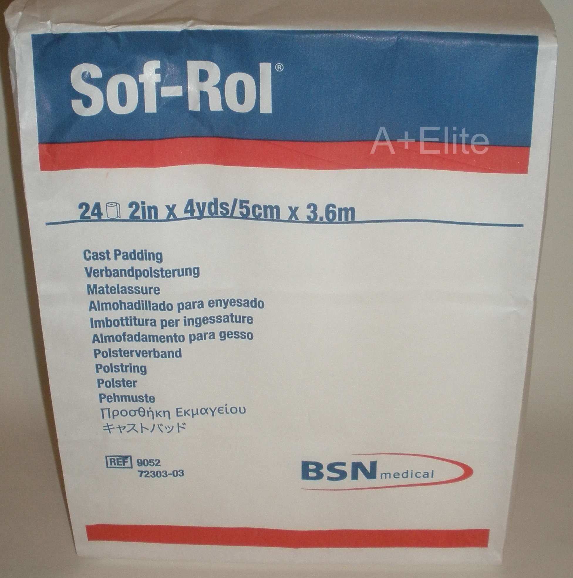 BSN 9052 2 in. x 4 yard Sof-Rol Cast Padding Synthetic Rayon, 24 Rolls per Bag