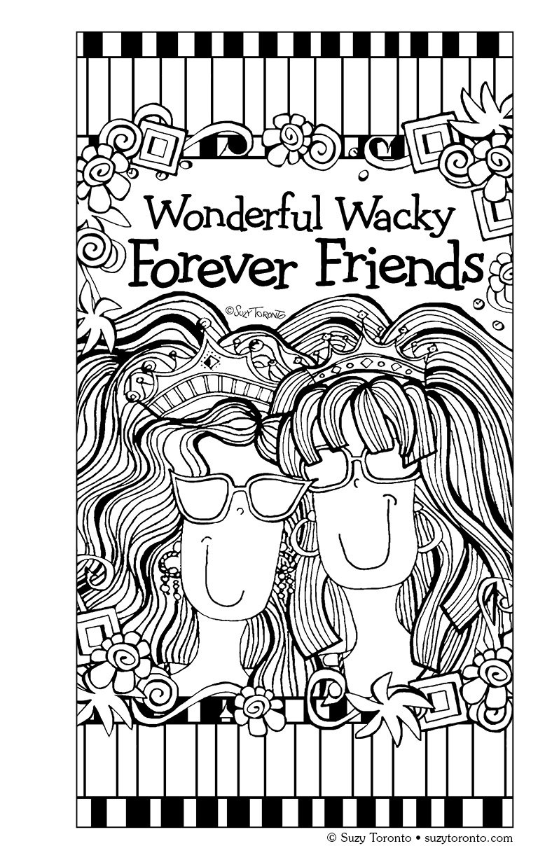 color friendship coloring book on the go coloring book series