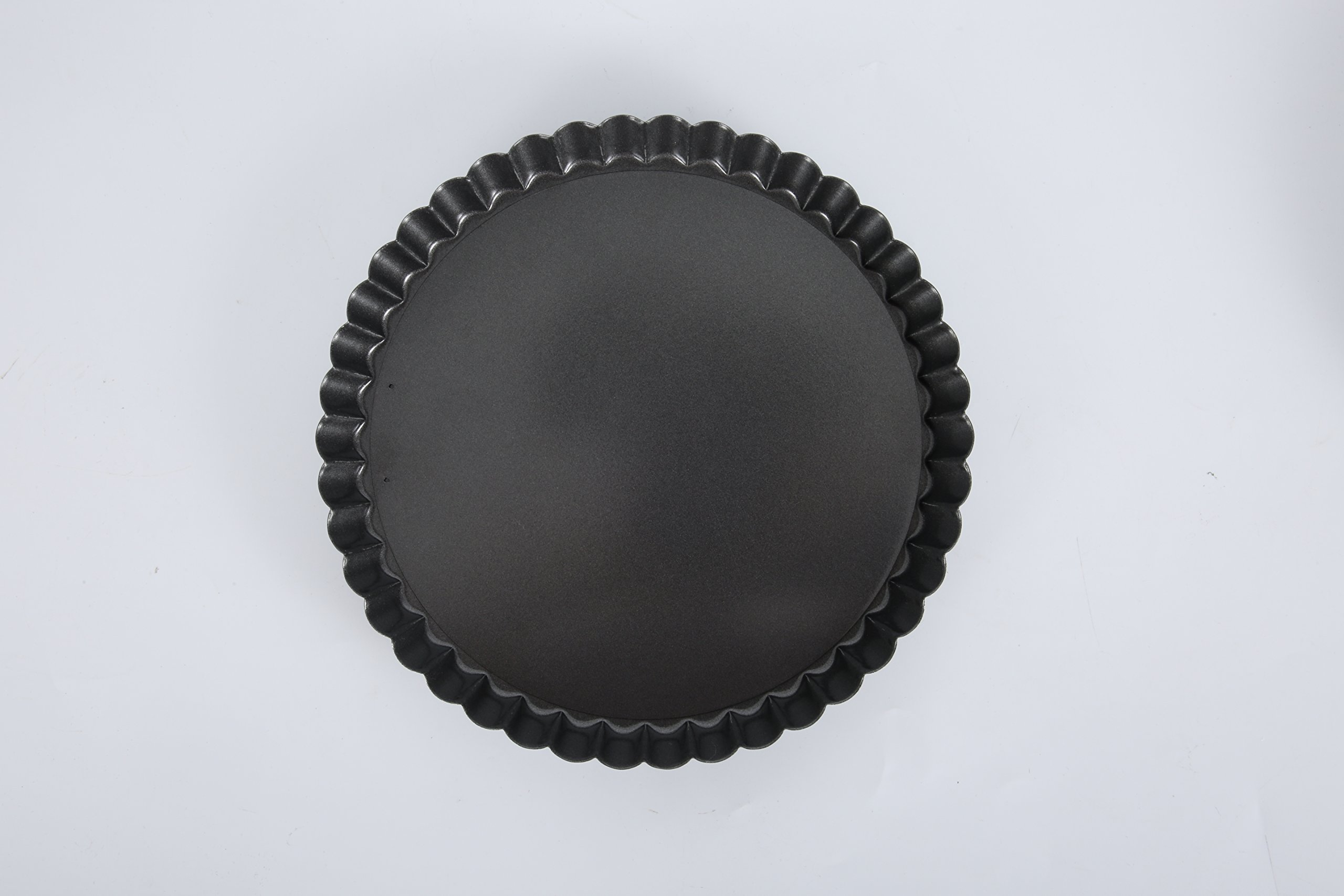 Non-Stick Removable Loose Bottom Quiche Tart Pan,Round Tart Quiche Pan with Removable Base,8-Inch by bingcheng (Image #3)