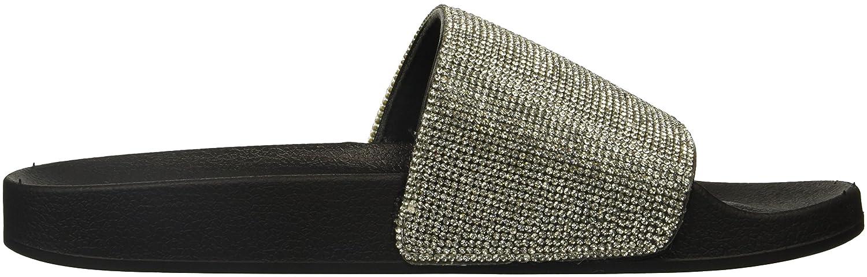 Madden Girl Women's Fancy Slide Sandal B0745K7L9N 7 B(M) US Black Paris