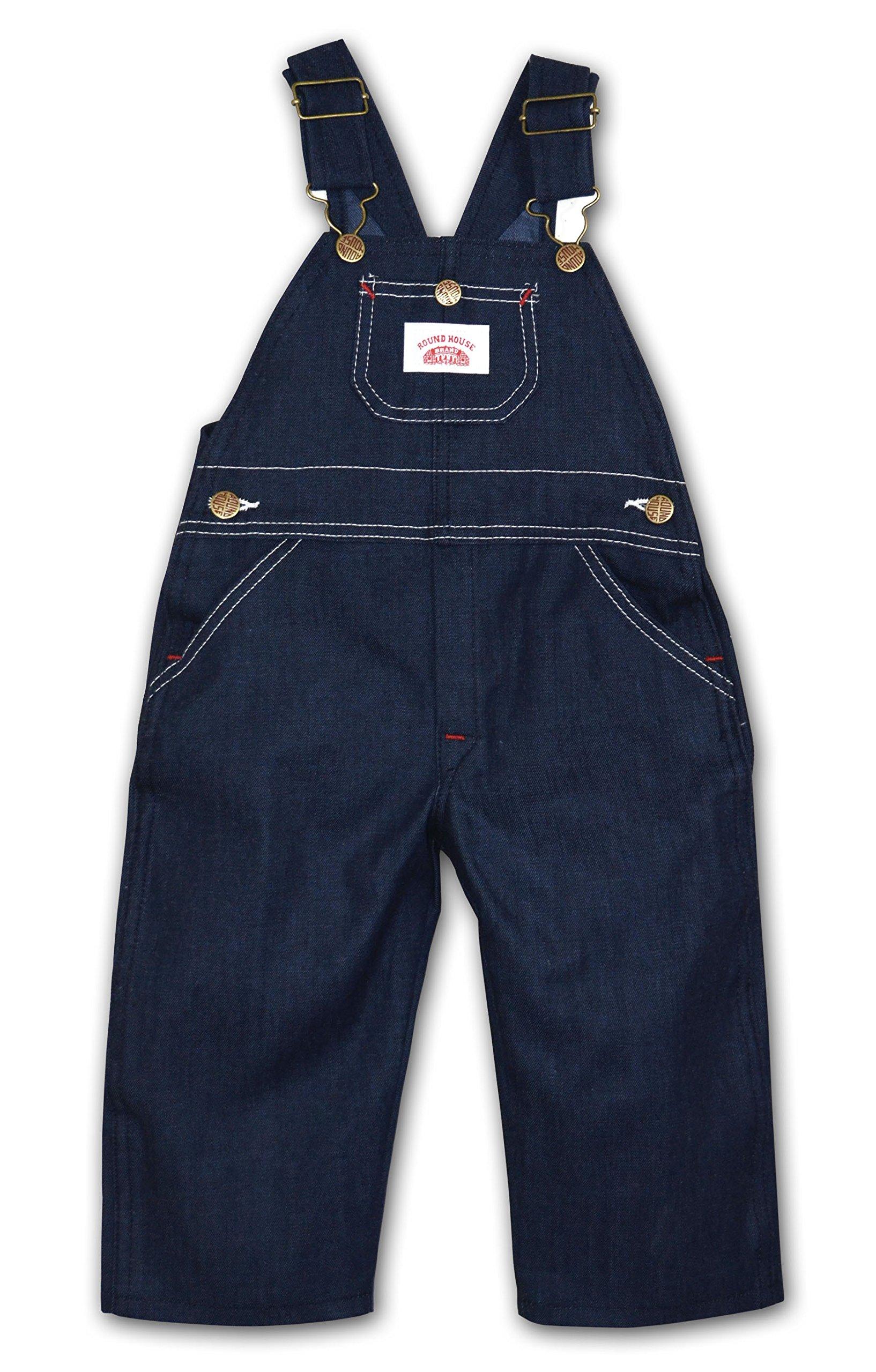Round House Toddler Bib Overalls - Denim 2T-4T (Blue 2T)
