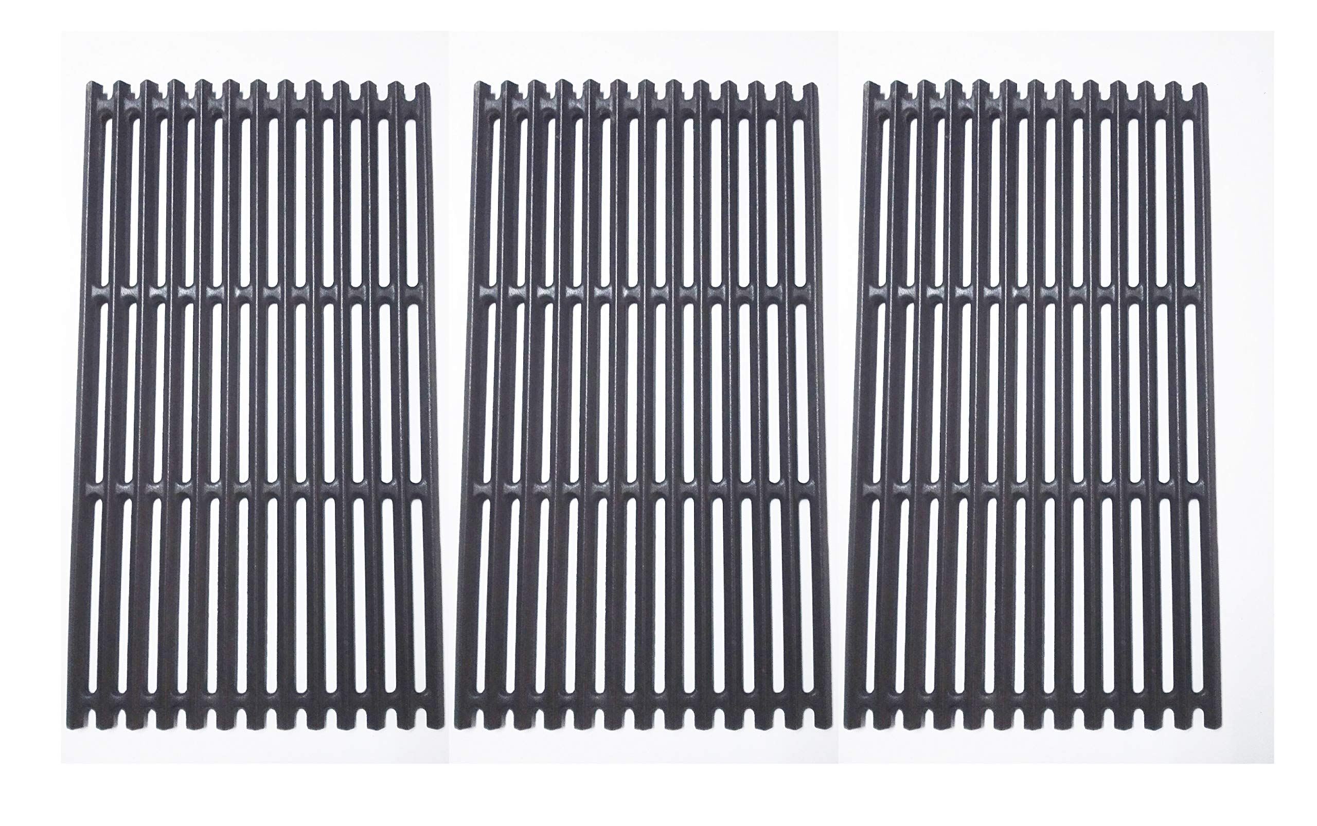 BBQration Matte Finished Cast Iron Cooking Grid for Select Charbroil Brand Gas Grill-griddles, Set of 3 by BBQration