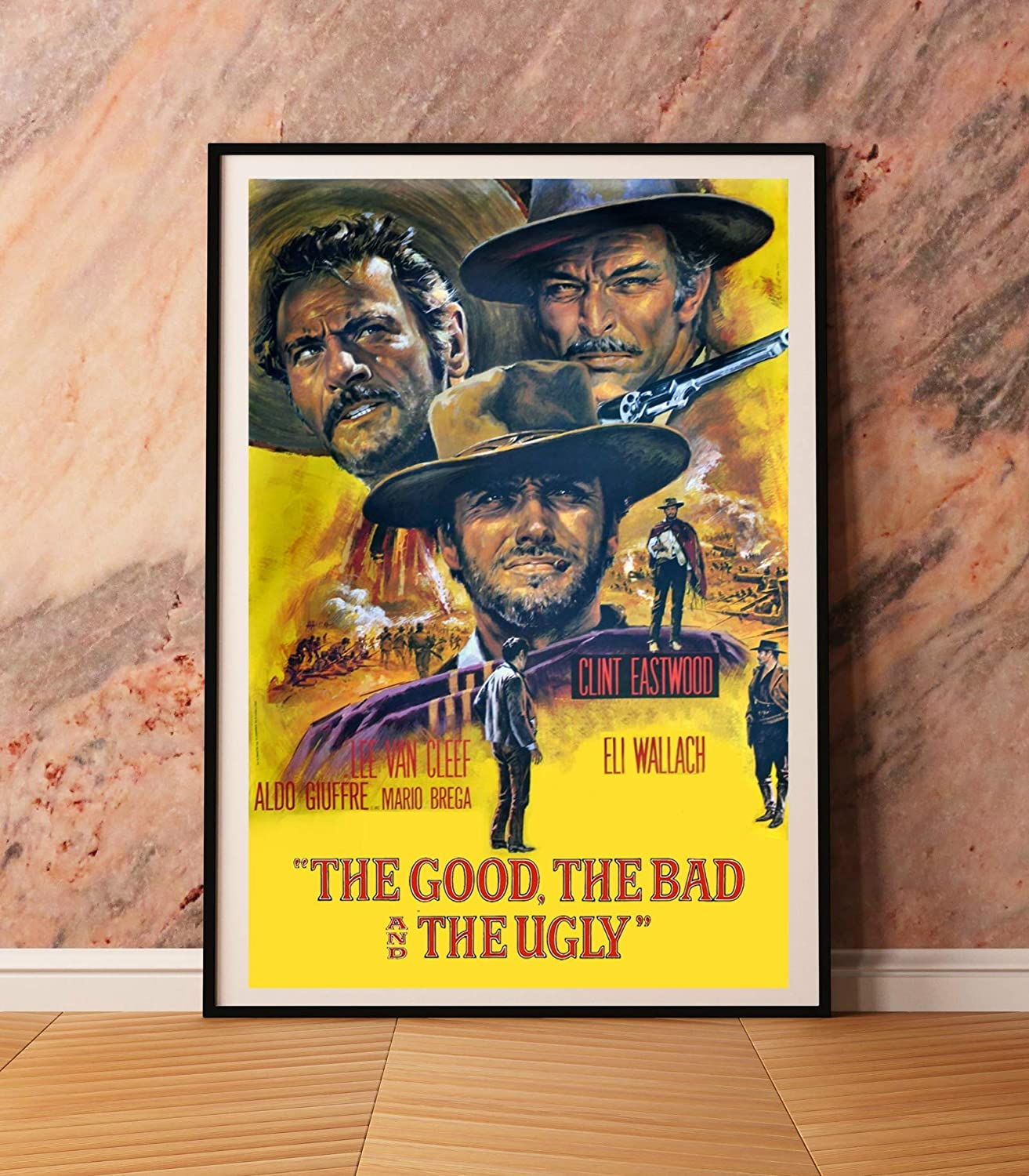 The Good The Bad and The Ugly movie art poster canvas
