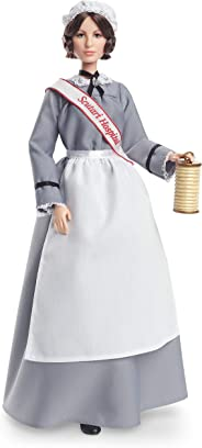 Barbie Inspiring Women Series Florence Nightingale Collectible Doll, Approx. 12-in, Wearing Nurse's Uniform, Apron and Cap w