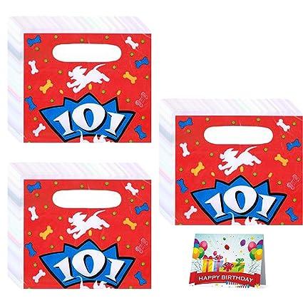 Amazon.com: 101 Dálmatas fiesta de cumpleaños Favor bolsas ...