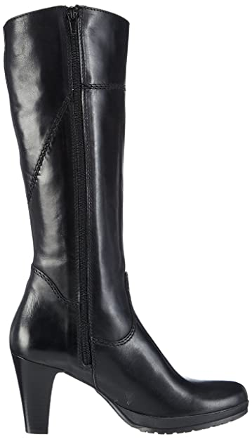 Tamaris 25579, Bottes à Tige Haute et Doublure intérieure Femmes - Noir -  Noir, 36 EU  Amazon.fr  Chaussures et Sacs 25b4e50f6e