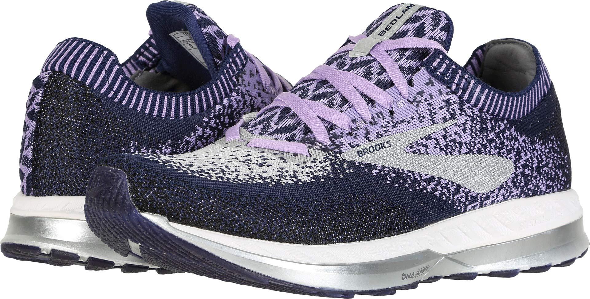 Brooks Women's Bedlam Purple/Navy/Grey 6 B US