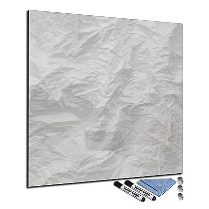 Pizarra magnética de cristal 40 x 40 cm Whiteboard pared se ...