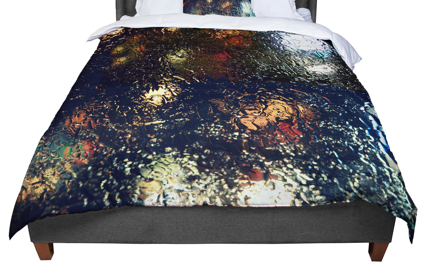 KESS InHouse Robin Dickinson Blinded Water Black King 104 X 88 Cal King Comforter