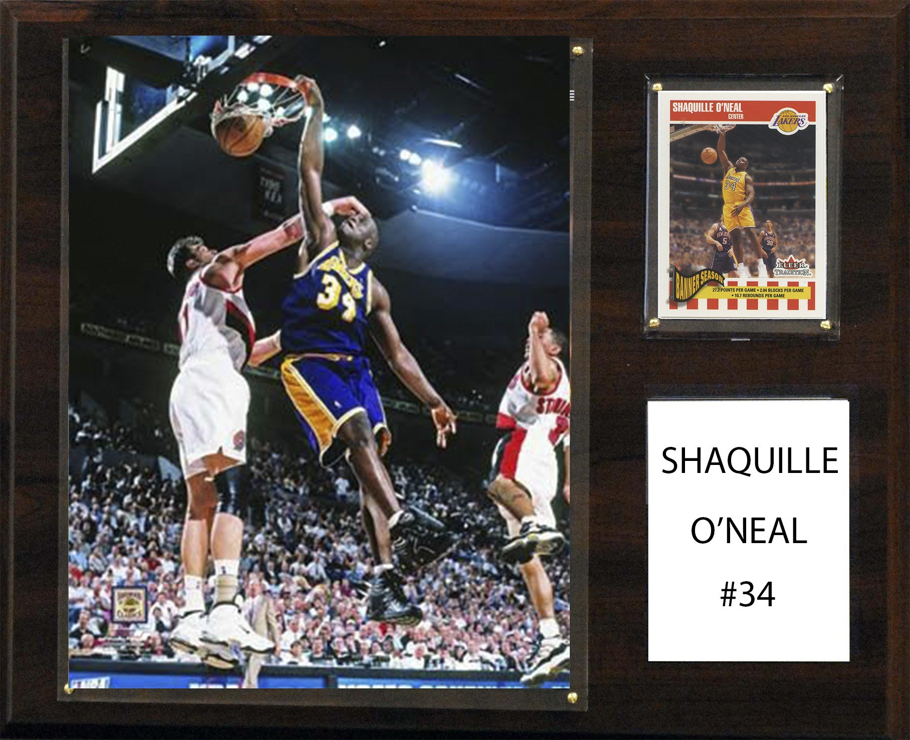NBA Los Angeles Lakers Shaquille O'Neal Player Plaque, 12 x 15-Inch