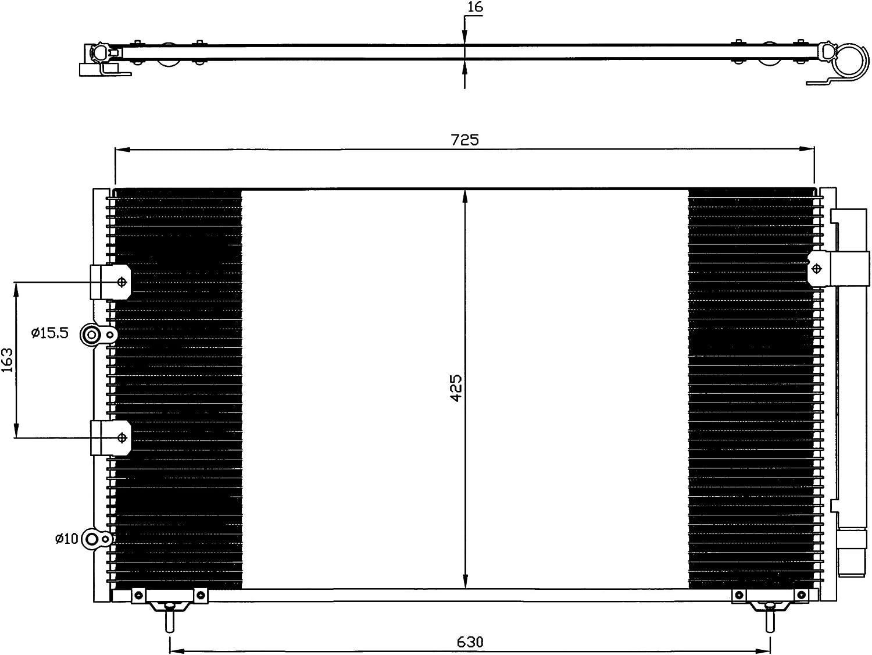 climatisation NRF 35874 Condenseur