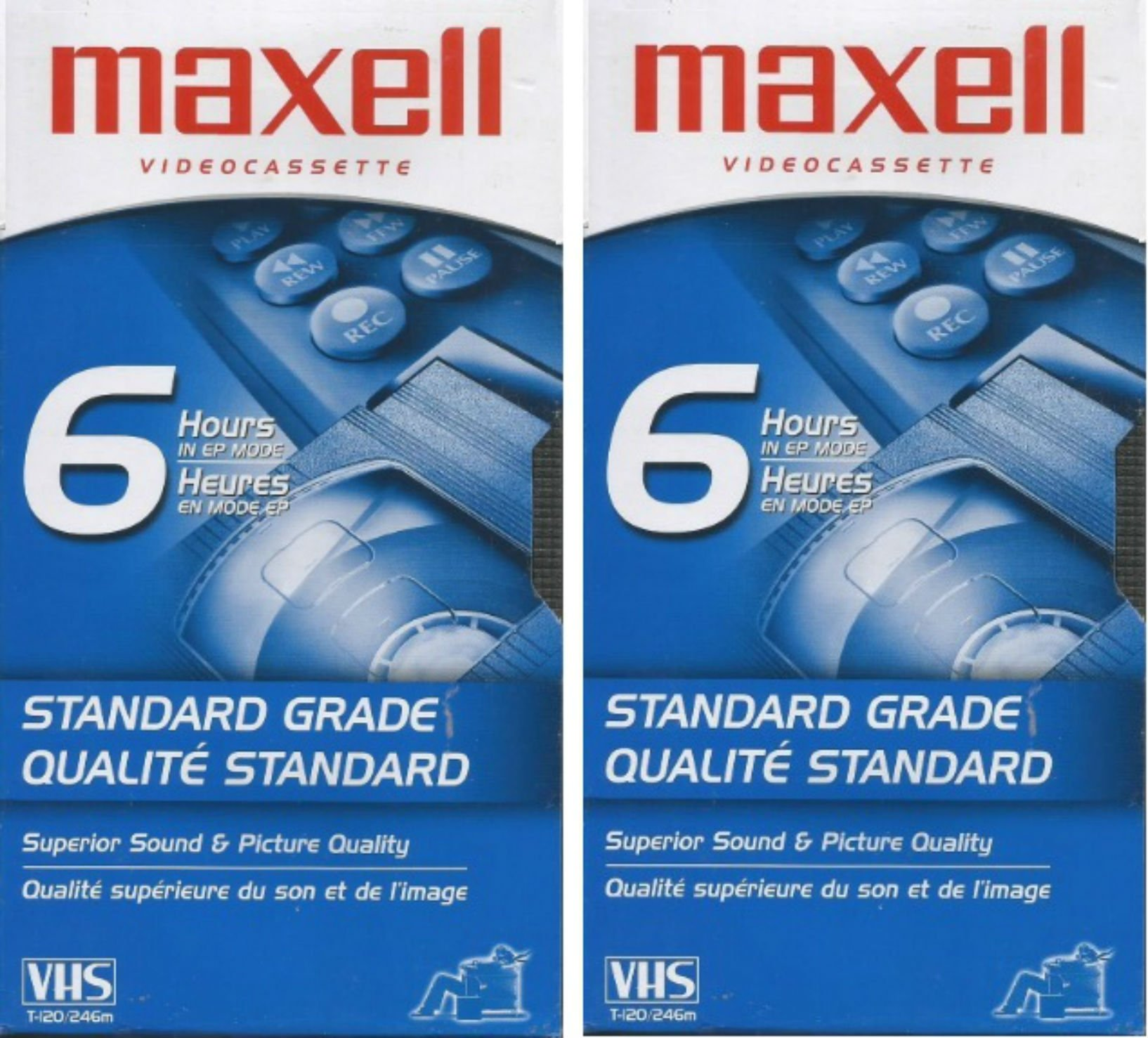 Maxell VHS T-120/246m 2pk by Maxwell