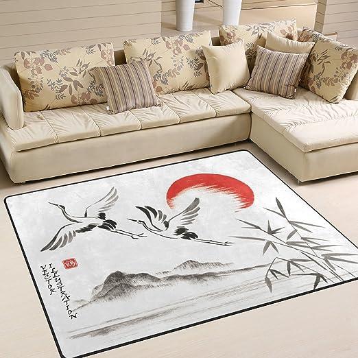 Amazon.de: JSTEL, weich, japanische Sumi-e-Teppiche für Wohnzimmer ...