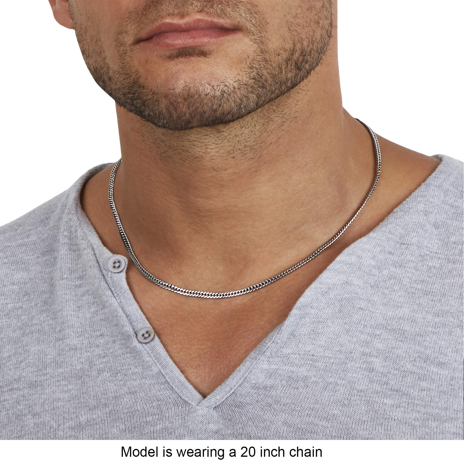 Neck Link Chains for Men Man Male Women Boys Girls 18 20 22 24 26 36 UK Silver Chain Twist Stainless Steel Jewelry Silvadore 4mm Rope Mens Necklace