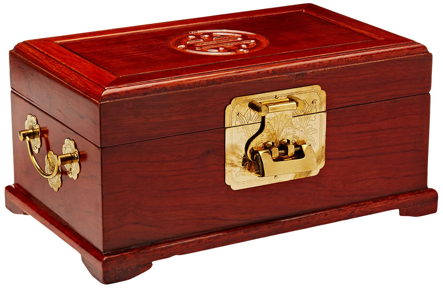 Amazon Com Oriental Furniture Rosewood Jewelry Box Honey Home