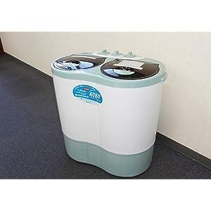ALUMIS 2槽式小型自動洗濯機 NEW 晴晴 脱水機能搭載 AHB-02