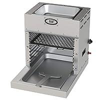 Elektrogrill Edelstahl silber XL Electro Grill 928 Grad Balkon ✔ eckig ✔ Grillen mit Elektrogrill Infrarot Oberhitze ✔ für den Tisch