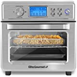 Elite Gourmet EAF8190D Maxi-Matic Digital Programmable Fryer Oven, Oil-Less Convection Oven Extra Large 21L. Capacity, Grill,
