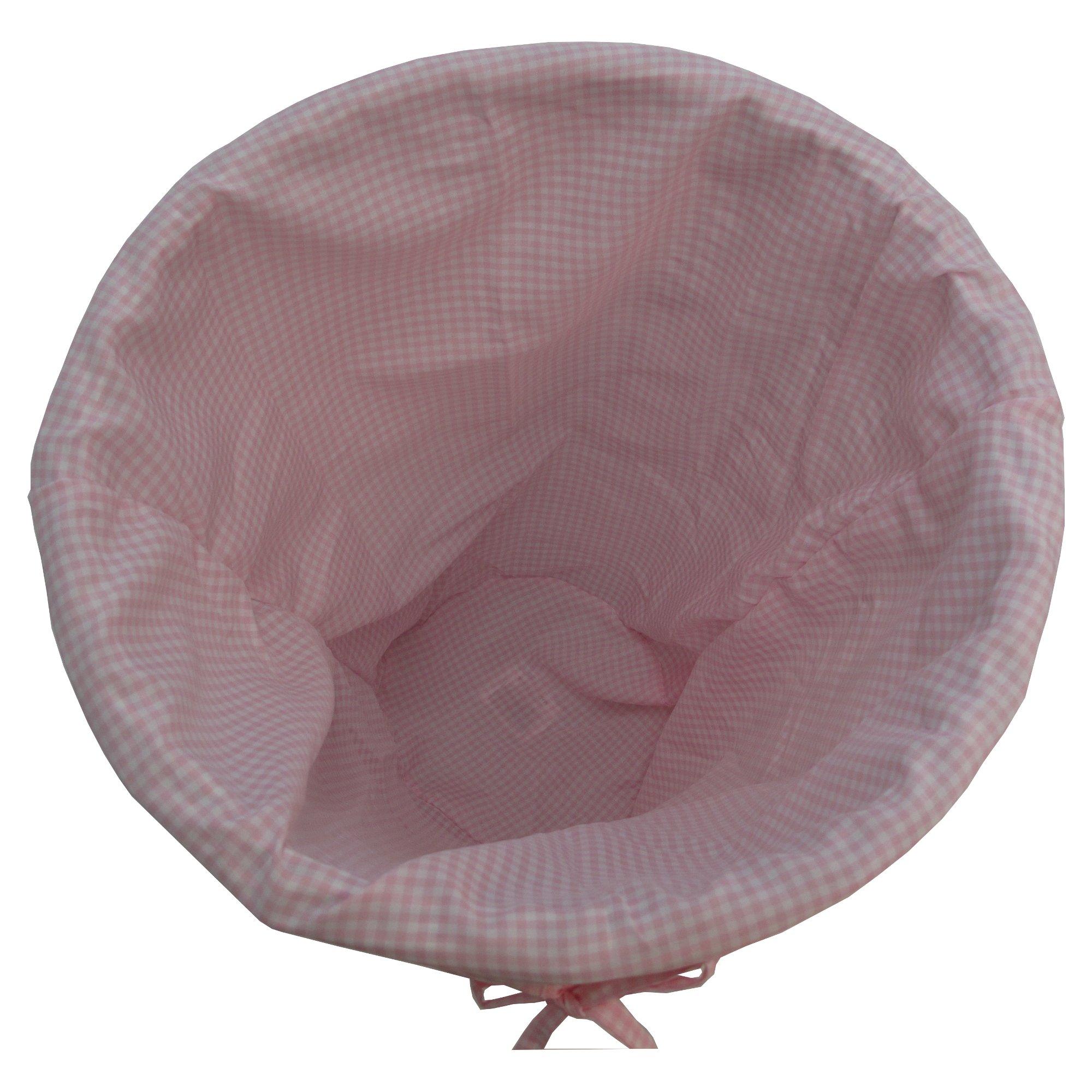 Gingham Pattern Cloth Liner - Pink