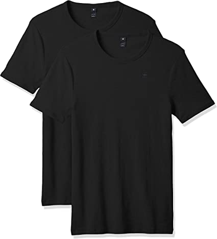 TALLA L. G-STAR RAW Base R T S/S 2-Pack Camiseta para Hombre