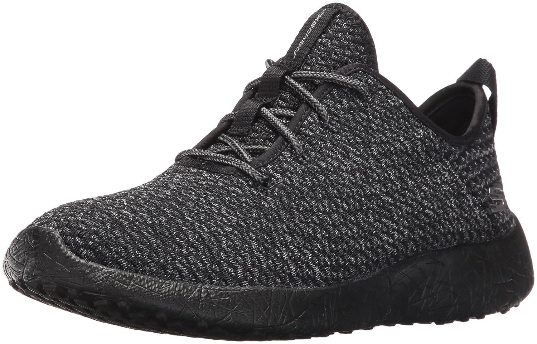 Skechers Damen Burst Sneakers, Schwarz/Weiß, 38 M EU  39 EU|Schwarz Anthrazit