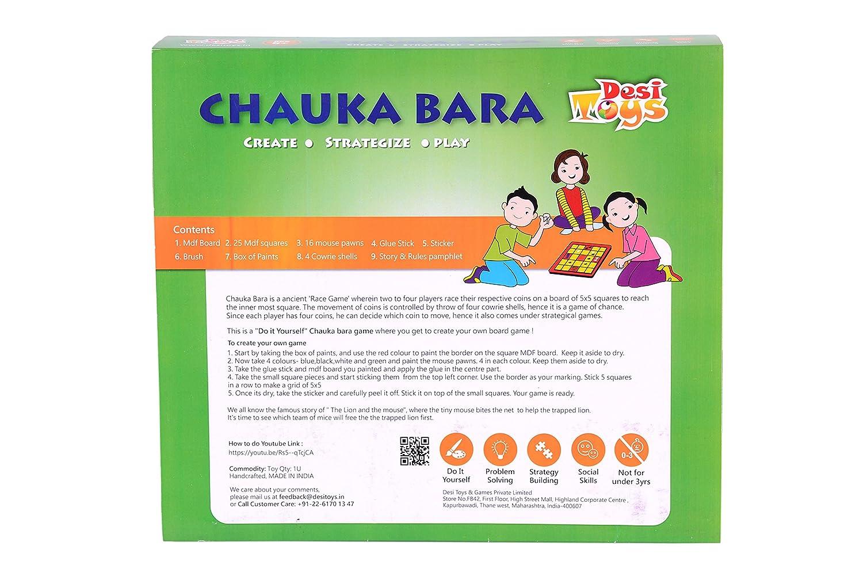Amazon diy chauka bara strategy board game toys games solutioingenieria Images