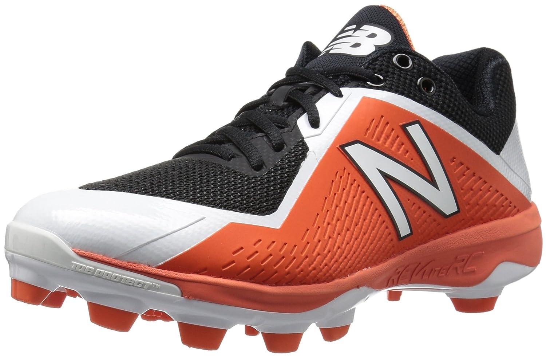 New Balance Men's PL4040v4 Molded Baseball schuhe, schwarz Orange, 15 2E US