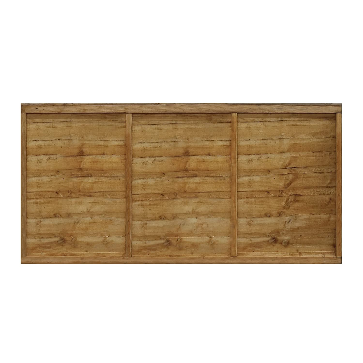 WALTONS EST. 1878 3x6 Wooden Fencing Panels, Horizontal Overlap Construction - Dip treated with 10 years guarantee (3 x 6 / 3ft x 6ft) 3-5 Day Delivery by Waltons