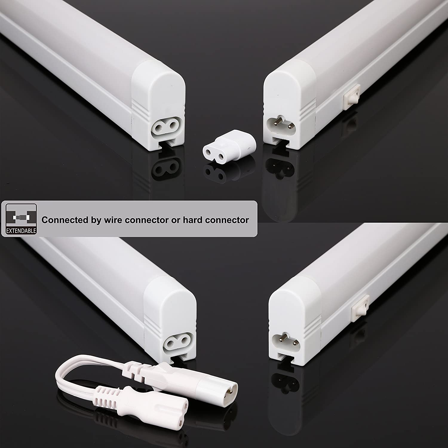 Under Cabinet Fluorescent Lighting 13inch Extendable Under Cabinet Light Eye Care 4200k Cool White