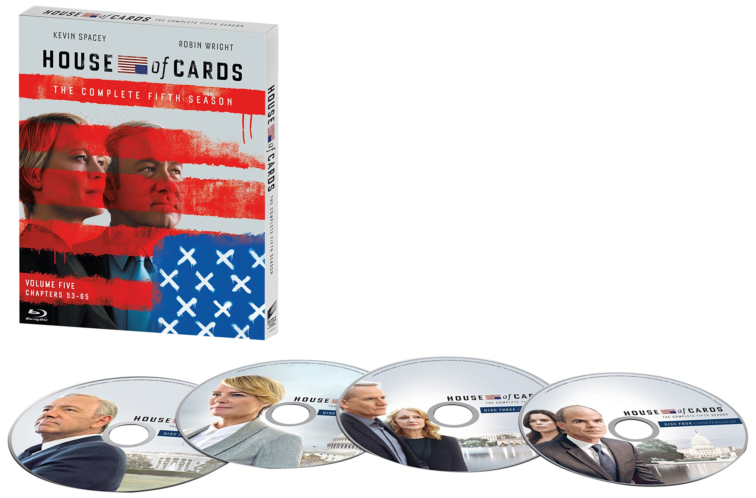 Blu-ray : House of Cards: The Complete Fifth Season (Oversize Item Split, Boxed Set, Ultraviolet Digital Copy, Widescreen, Dolby)