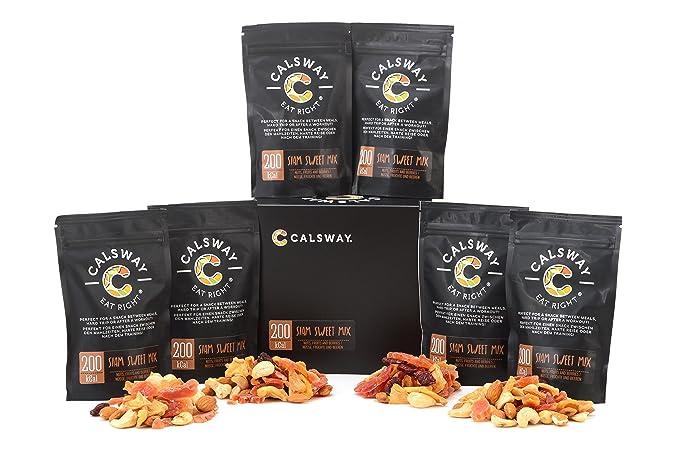 (Paquete de 6) 200 Calorías SIAM DULCE nueces y frutas mezcla por Calsway