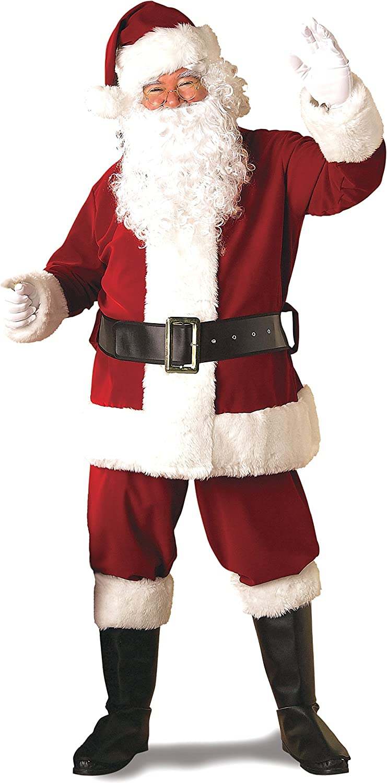 Rubies Adult Deluxe Ultra Velvet Santa Suit With Gloves