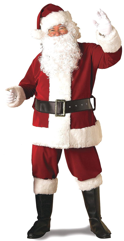 amazoncom rubies deluxe ultra velvet santa suit clothing - White Santa Claus