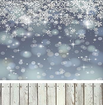 5 X 2 1 Winter Schneeflocke Photography Hintergrund Grau Holz Boden Foto Hintergrund Für Kinder Shooting 10x10 Küche Haushalt