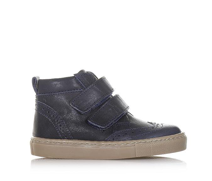 73f3c5c397365 PÈPÈ - Chaussure bleue en cuir