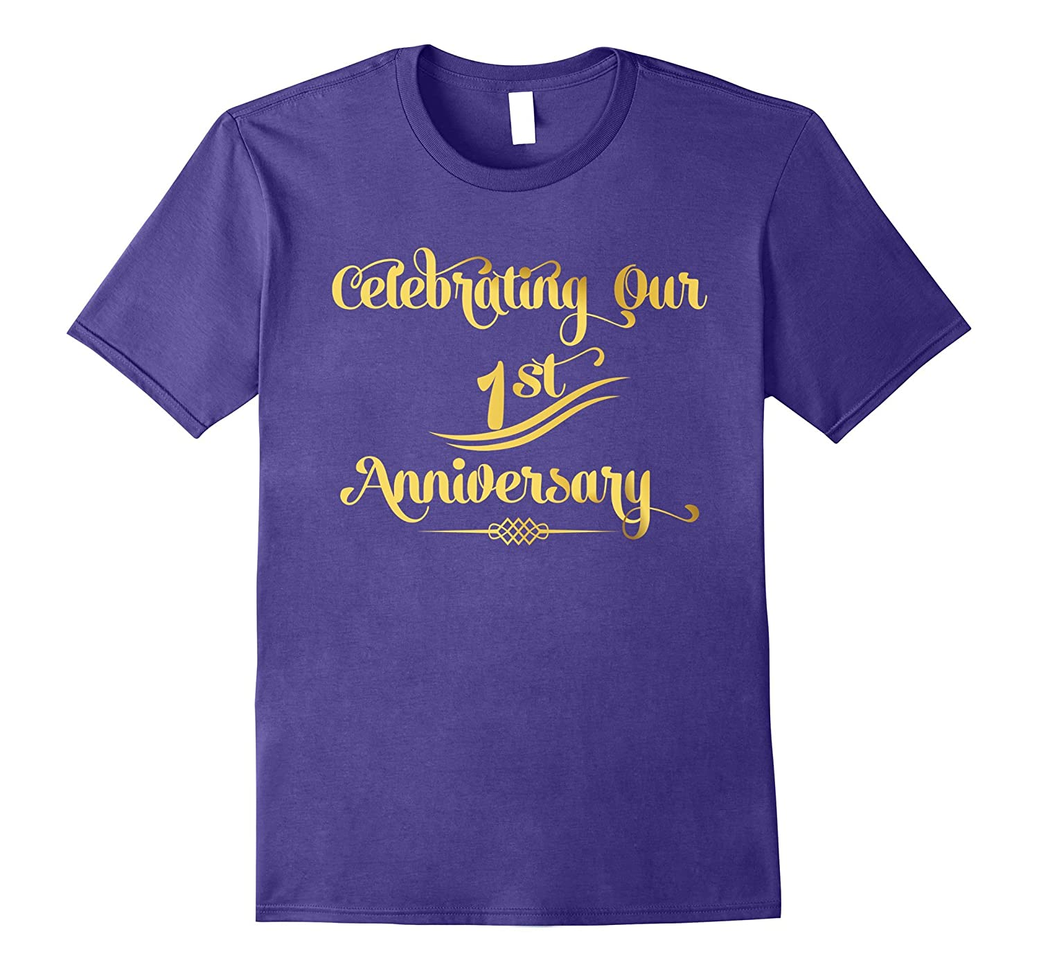 1st Wedding Anniversary Husband & Wife Marriage Gift T-Shirt-TH