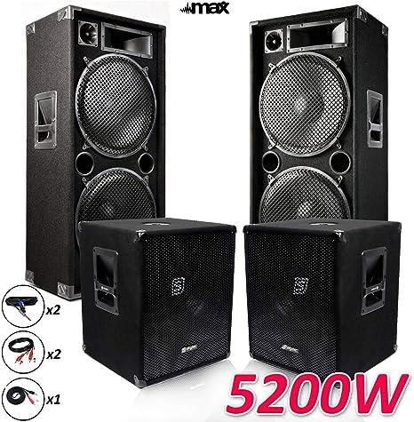 Pack megafonía 1515 – 215-sk 5200 W sub38 X2 -2 altavoces 15