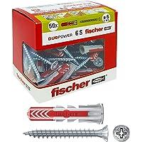 Fischer Duopower Pluggen met schroef, grijs, 544016