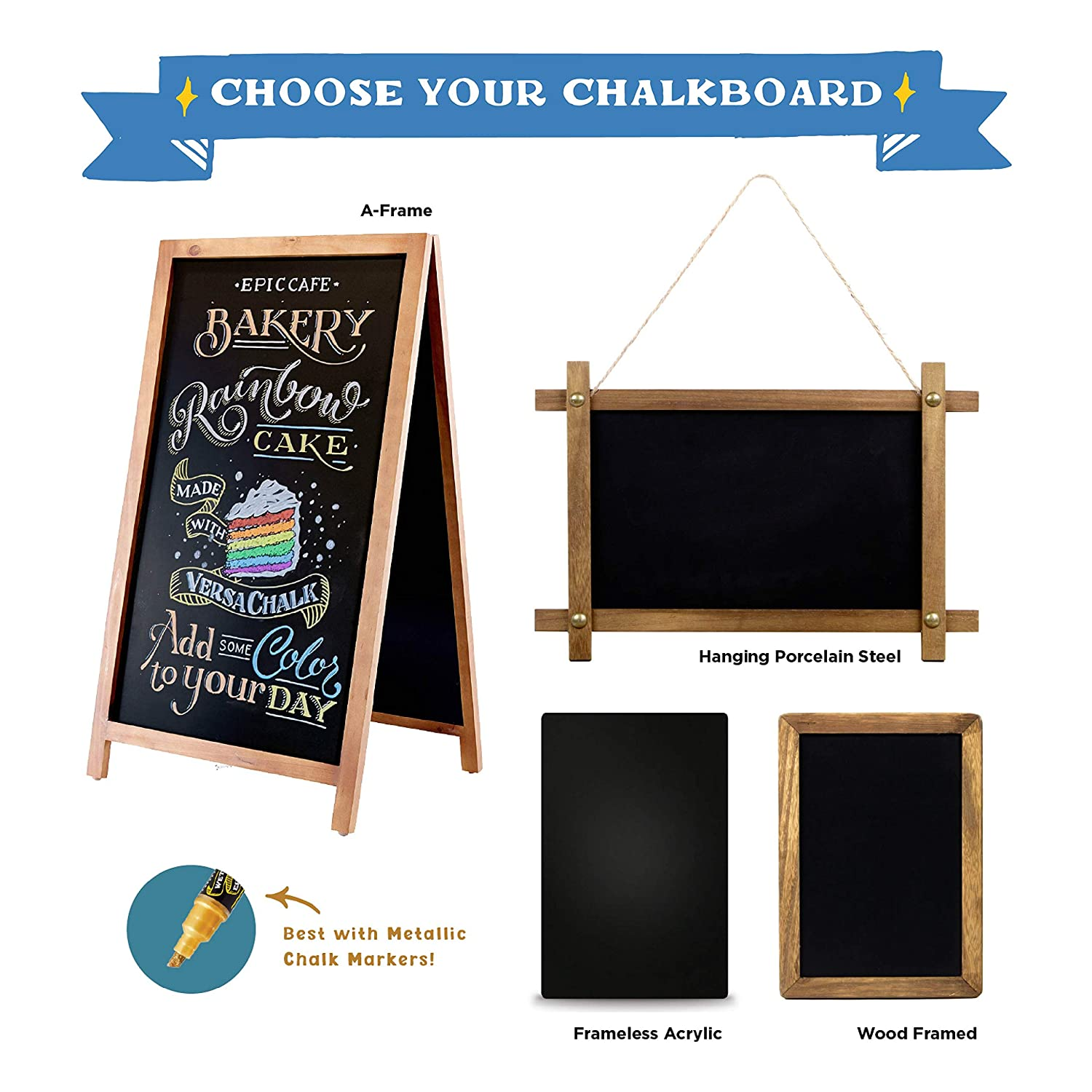24 x 36 with Circular Clip Hangers Dual Purpose Magnetic Signboard Porcelain Steel Wall Mounted Magnetic Chalkboard Surface