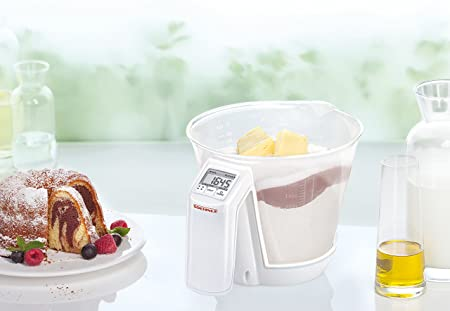 Soehnle 6151-Bascula de Cocina Baking Star, Capacidad de Carga 3 kg, De plástico, Blanco: Amazon.es: Hogar
